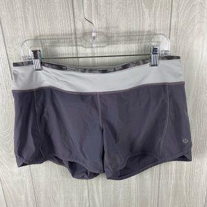 Lululemon Groove Running Gray Shorts Size 8